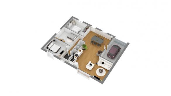 Maison+Terrain à vendre .(90 m²)(FLORINGHEM) avec (HABITAT CONCEPT BETHUNE)