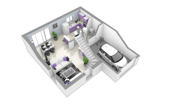 Maison+Terrain à vendre .(80 m²)(SAINT VERAND) avec (MAISONS AXIAL)