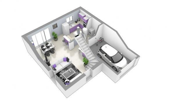 Maison+Terrain à vendre .(90 m²)(SAINT VERAND) avec (MAISONS AXIAL)