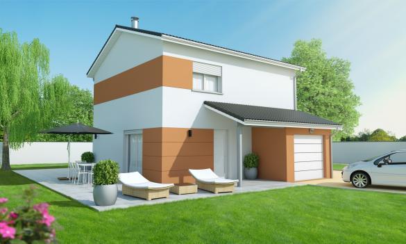 Maison+Terrain à vendre .(110 m²)(SAINT VERAND) avec (MAISONS AXIAL)