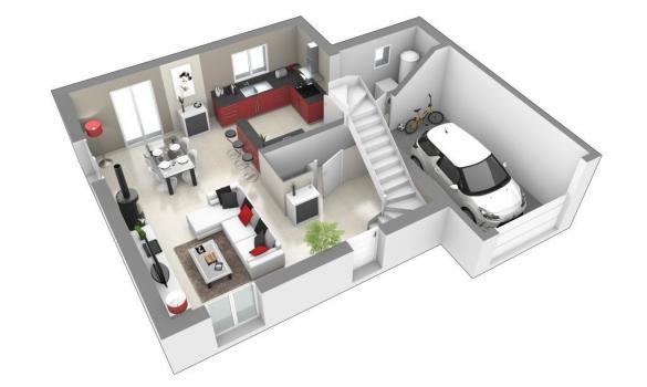 Maison+Terrain à vendre .(85 m²)(SAINT TRIVIER SUR MOIGNANS) avec (MAISONS AXIAL)