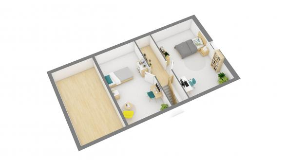 Maison+Terrain à vendre .(79 m²)(VILLERS COTTERETS) avec (RESIDENCES PICARDES SOISSONS)