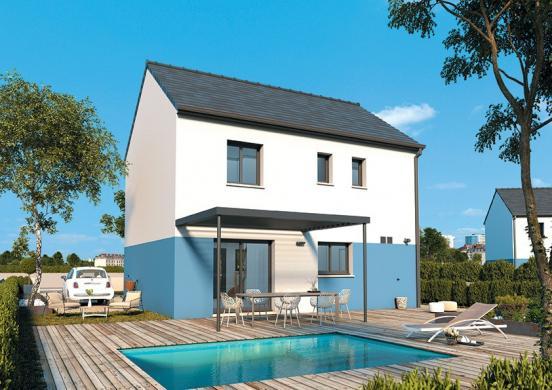 Maison+Terrain à vendre .(95 m²)(LONGNES) avec (MAISONS FRANCE CONFORT)