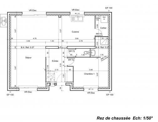 Maison à vendre .(104 m²)(SAINT SAUFLIEU) avec (GROUPE LESTERLIN)