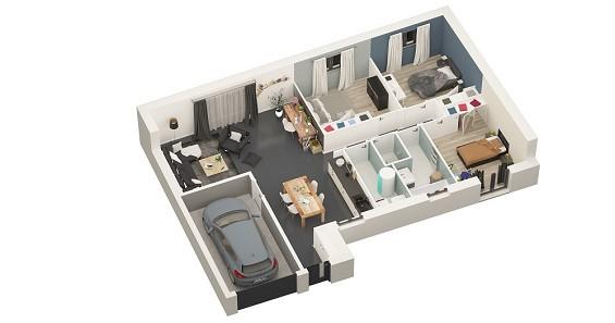 Maison à vendre .(77 m²)(SAILLY LAURETTE) avec (GROUPE LESTERLIN)