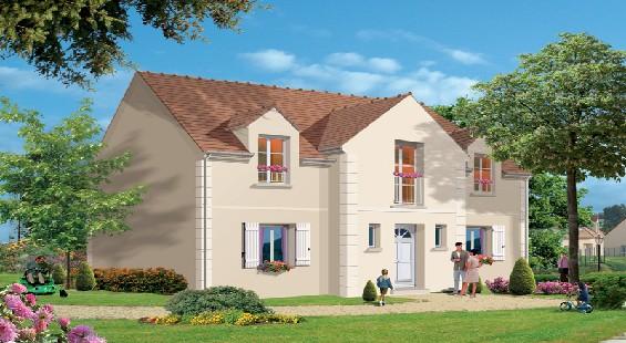 Maison à vendre .(130 m²)(JABLINES) avec (GROUPE LESTERLIN)