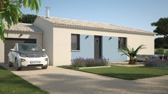 Maison+Terrain à vendre .(90 m²)(BIZANET) avec (MAISONS FRANCE CONFORT)