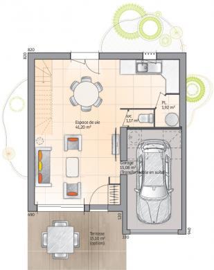 Maison+Terrain à vendre .(96 m²)(SIGEAN) avec (MAISONS FRANCE CONFORT)