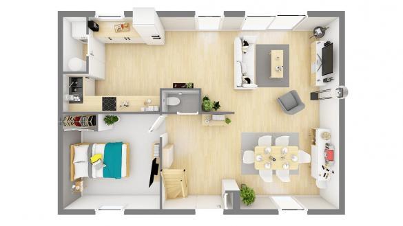 Maison+Terrain à vendre .(107 m²)(VAUX SUR SEINE) avec (MAISONS PHENIX)