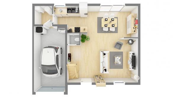 Maison+Terrain à vendre .(84 m²)(NEUILLY EN THELLE) avec (MAISONS PHENIX)