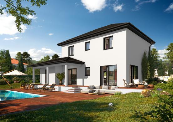 Maison+Terrain à vendre .(115 m²)(VILLARS LES DOMBES) avec (DEMEURES CALADOISES SIEGE SOCIAL)