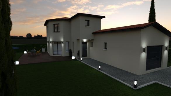 Maison+Terrain à vendre .(112 m²)(MONTMERLE SUR SAONE) avec (DEMEURES CALADOISES SIEGE SOCIAL)