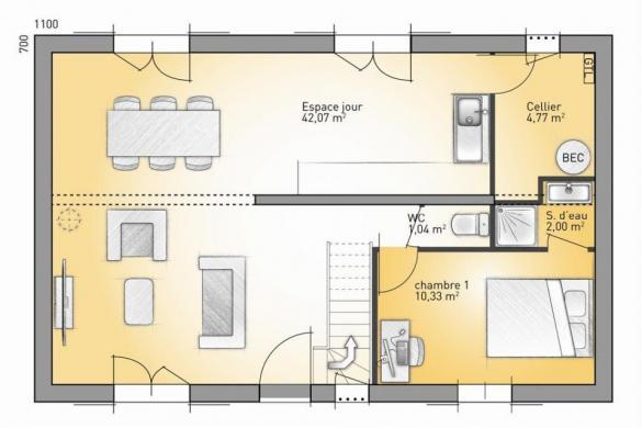 Maison+Terrain à vendre .(105 m²)(BORNEL) avec (MAISONS FRANCE CONFORT)