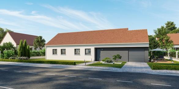 Maison+Terrain à vendre .(105 m²)(OSTRICOURT) avec (MAISONS FRANCE CONFORT)