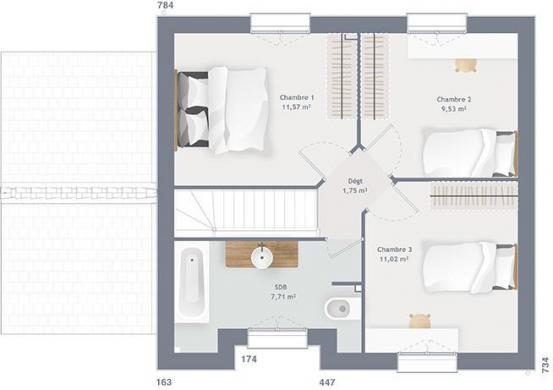 Maison+Terrain à vendre .(80 m²)(GOGNIES CHAUSSEE) avec (MAISONS FRANCE CONFORT)