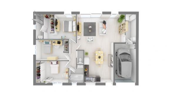 Maison+Terrain à vendre .(90 m²)(LABASTIDE GABAUSSE) avec (Maisons France Confort)