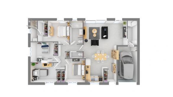 Maison+Terrain à vendre .(103 m²)(POULAN POUZOLS) avec (Maisons France Confort)