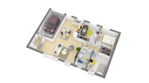 Maison+Terrain à vendre .(75 m²)(DENAT) avec (Maisons France Confort)
