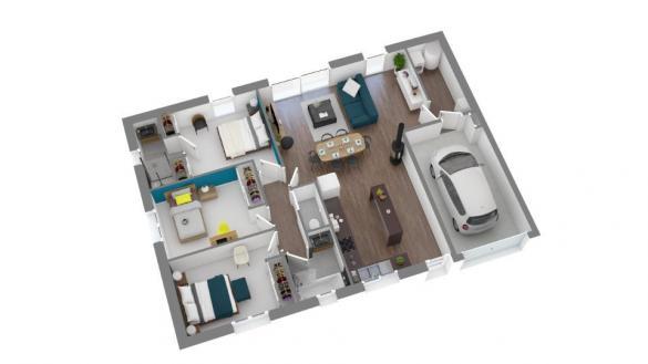 Maison+Terrain à vendre .(84 m²)(CALMONT) avec (Maisons France Confort)