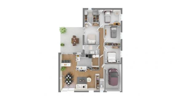 Maison+Terrain à vendre .(110 m²)(REBIGUE) avec (Maisons France Confort)