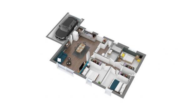 Maison+Terrain à vendre .(83 m²)(CALMONT) avec (Maisons France Confort)