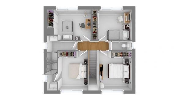 Maison+Terrain à vendre .(95 m²)(VILLENOUVELLE) avec (Maisons France Confort)