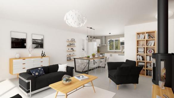 Maison+Terrain à vendre .(105 m²)(POMPERTUZAT) avec (Maisons France Confort)