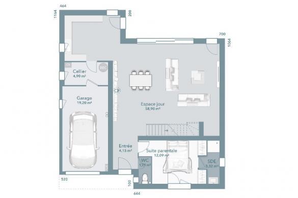Maison+Terrain à vendre .(120 m²)(DALOU) avec (Maisons France Confort)