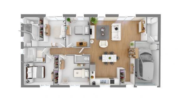 Maison+Terrain à vendre .(113 m²)(LEZAT SUR LEZE) avec (Maisons France Confort)