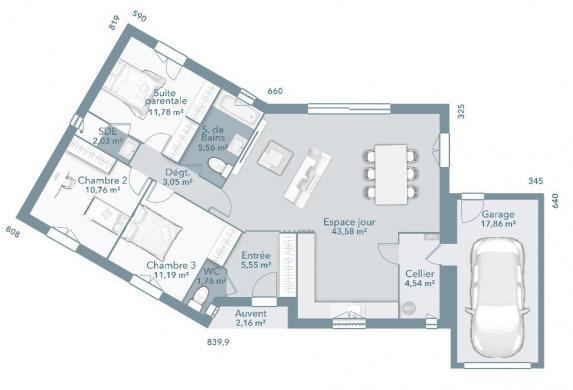 Maison+Terrain à vendre .(100 m²)(LASSERRE) avec (MAISONS FRANCE CONFORT)