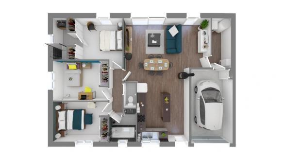 Maison+Terrain à vendre .(84 m²)(SAINT LYS) avec (MAISONS FRANCE CONFORT)