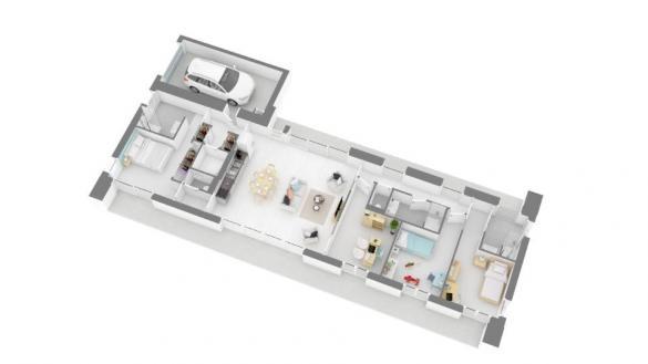 Maison+Terrain à vendre .(115 m²)(DAUX) avec (MAISONS FRANCE CONFORT)