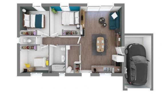 Maison+Terrain à vendre .(83 m²)(L'HONOR DE COS) avec (MAISONS FRANCE CONFORT)