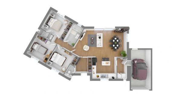 Maison+Terrain à vendre .(100 m²)(VERLHAC TESCOU) avec (MAISONS FRANCE CONFORT)