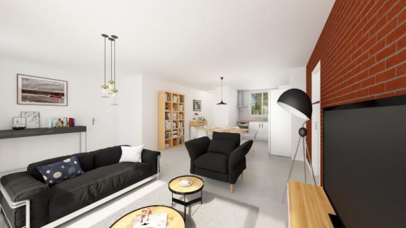 Maison+Terrain à vendre .(103 m²)(SAINT NICOLAS DE LA GRAVE) avec (MAISONS FRANCE CONFORT)
