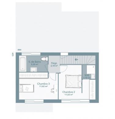 Maison+Terrain à vendre .(92 m²)(MONTEILS) avec (MAISONS FRANCE CONFORT)
