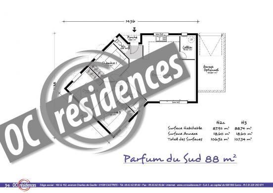 Maison+Terrain à vendre .(88 m²)(TERSSAC) avec (OC RESIDENCES)