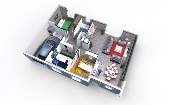Maison+Terrain à vendre .(80 m²)(SERENAC) avec (OC RESIDENCES - ALBI)