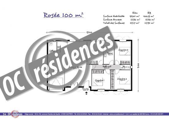 Maison+Terrain à vendre .(100 m²)(SERENAC) avec (OC RESIDENCES - ALBI)