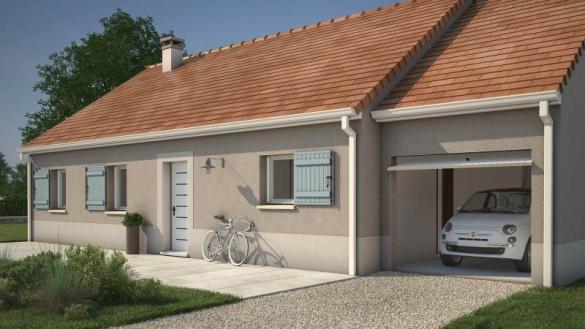 Maison+Terrain à vendre .(73 m²)(LIGNY LE CHATEL) avec (MAISONS FRANCE CONFORT)