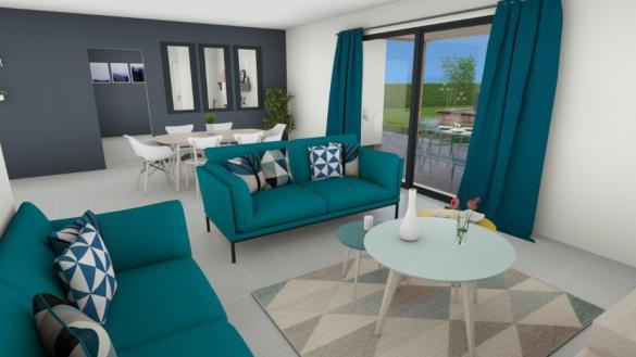 Maison+Terrain à vendre .(115 m²)(SALAVAS) avec (MAISONS FRANCE CONFORT)