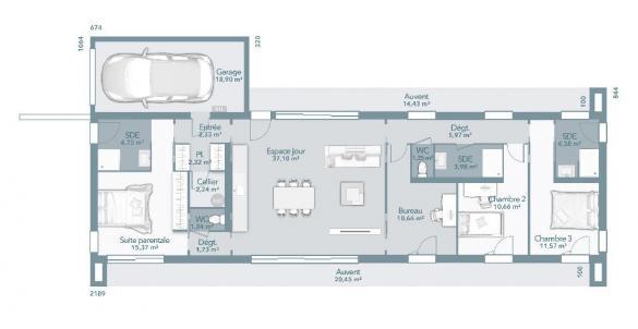 Maison+Terrain à vendre .(115 m²)(VAGNAS) avec (MAISONS FRANCE CONFORT)