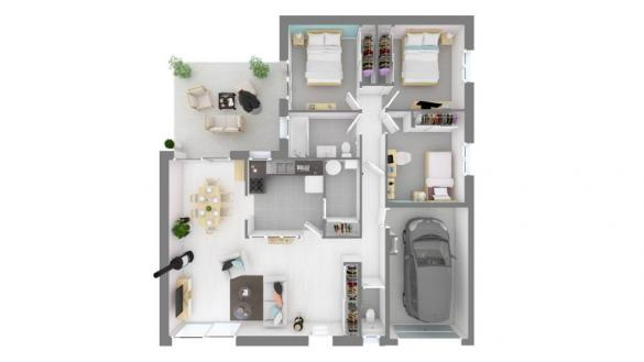 Maison+Terrain à vendre .(90 m²)(VALLON PONT D'ARC) avec (MAISONS FRANCE CONFORT)