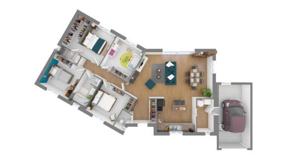 Maison+Terrain à vendre .(112 m²)(BARJAC) avec (MAISONS FRANCE CONFORT)
