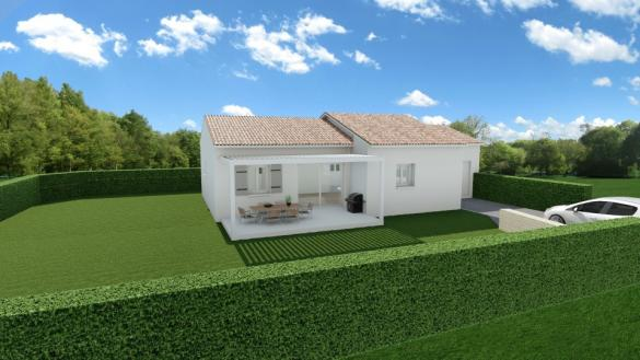 Maison+Terrain à vendre .(83 m²)(LEDENON) avec (MAISONS FRANCE CONFORT)