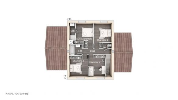Maison+Terrain à vendre .(110 m²)(MOULES) avec (MAISONS FRANCE CONFORT)