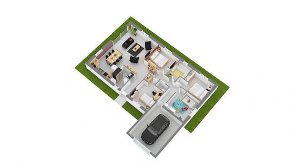 Maison+Terrain à vendre .(100 m²)(PONTCHARRA) avec (MAISONS FRANCE CONFORT)