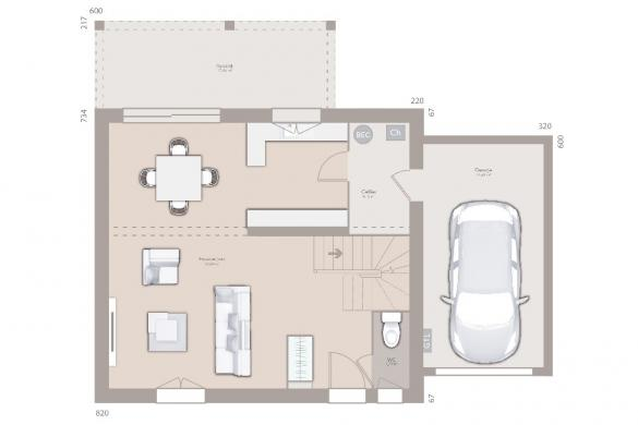 Maison+Terrain à vendre .(90 m²)(TULLINS) avec (MAISONS FRANCE CONFORT)