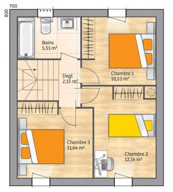 Maison+Terrain à vendre .(88 m²)(ROCBARON) avec (MAISONS BALENCY)
