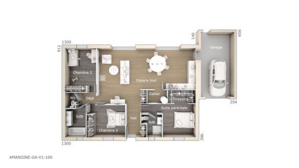 Maison+Terrain à vendre .(100 m²)(ORANGE) avec (MAISONS DE MANON)